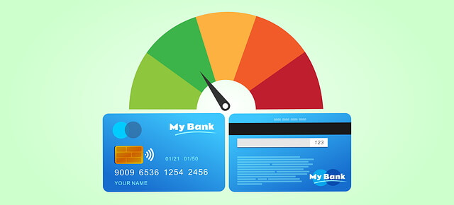 Credit score and report illustration